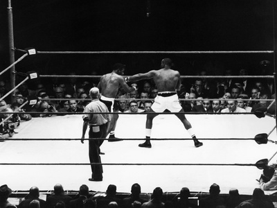 Floyd Patterson and Charles (Sonny) Liston - 1962 Stretched Canvas Print