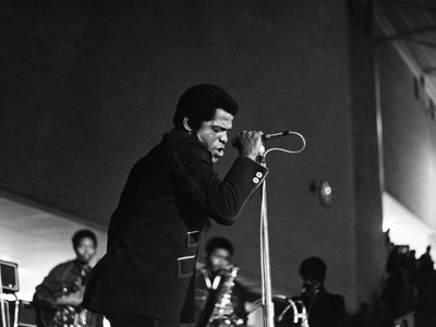 James Brown Stretched Canvas Print