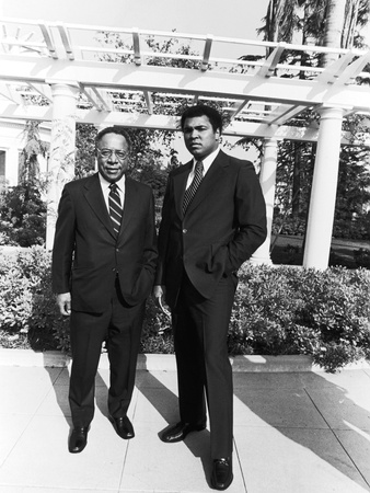 Muhammad Ali and Alex Haley - 1979 Stretched Canvas Print