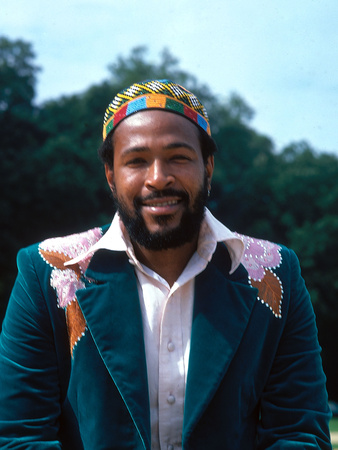 Marvin Gaye - 1974 Stretched Canvas Print
