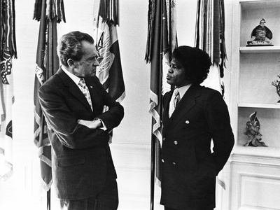 James Brown, Richard Nixon - 1972 Stretched Canvas Print