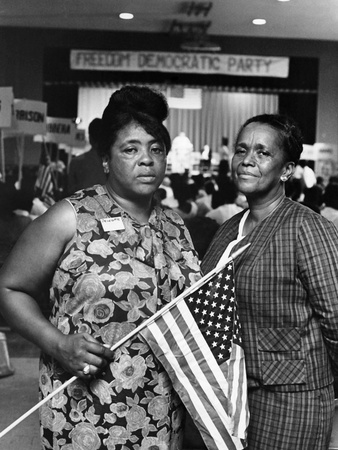Fannie Lou Hammer and Ella Baker Stretched Canvas Print