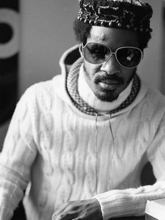 Stevie Wonder - 1976 Stretched Canvas Print