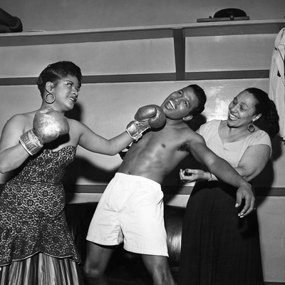 Sugar Ray Robinson, Ruth Brown, and Blanche Calloway Stretched Canvas Print