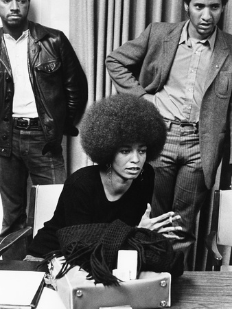 Angela Davis -1972 Stretched Canvas Print