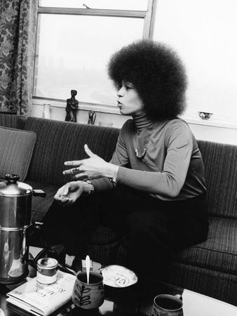 Angela Davis Stretched Canvas Print