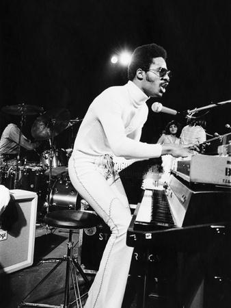 Stevie Wonder - 1974 Stretched Canvas Print