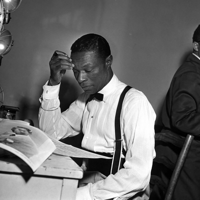 Nat King Cole - 1955 Stretched Canvas Print