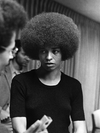 Angela Davis - 1972 Stretched Canvas Print