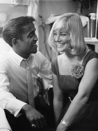 Sammy Davis Jr., May Britt, - 1960 Stretched Canvas Print