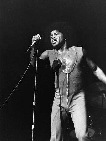 James Brown. - 1972 Stretched Canvas Print