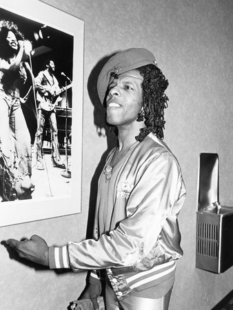 Sly Stone - 1981 Stretched Canvas Print