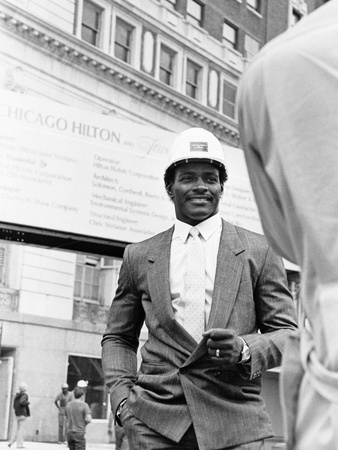 Walter Payton - 1985 Stretched Canvas Print