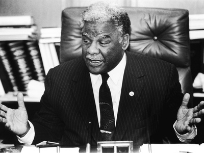Harold Washington -1987 Stretched Canvas Print