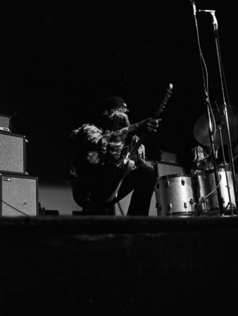 Jimi Hendrix -1968 Stretched Canvas Print