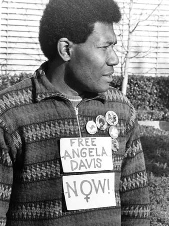 Angela Davis supporter - 1972 Stretched Canvas Print