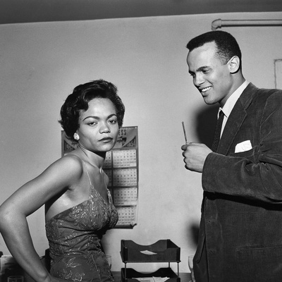 Eartha Kitt and Harry Belafonte Stretched Canvas Print