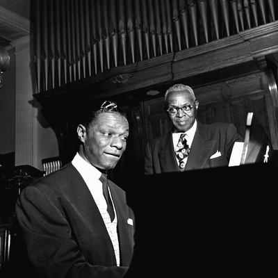 Nat King Cole - 1954 Stretched Canvas Print