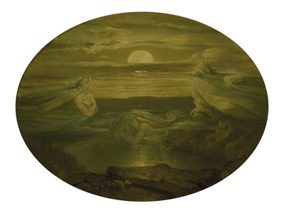 Ghosts over the Water. after 1860 Stretched Canvas Print