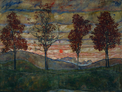 Four Trees, 1917 Canvas Art Set