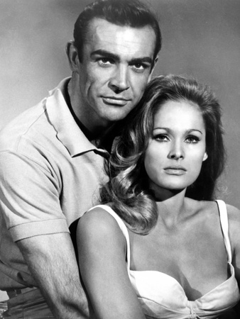 Dr. No, From Left: Sean Connery, Ursula Andress, 1962 Stretched Canvas Print