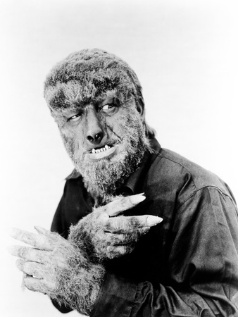 House of Dracula, Lon Chaney, Jr. as 'The Wolf Man', 1945 Stretched Canvas Print