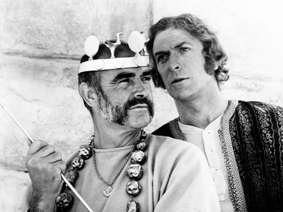 The Man Who Would Be King, Sean Connery, Michael Caine, 1975 Stretched Canvas Print