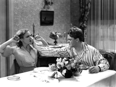 The Public Enemy, Mae Clarke, James Cagney, 1931, Domestic Fight With Grapefruit Stretched Canvas Print