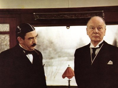 Murder On The Orient Express, Albert Finney, John Gielgud, 1974 Stretched Canvas Print
