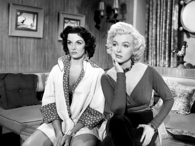 Gentlemen Prefer Blondes, Jane Russell, Marilyn Monroe, 1953 Stretched Canvas Print