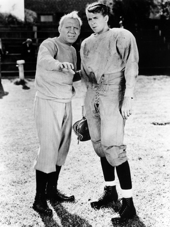 Knute Rockne All American, Pat O'Brien, Ronald Reagan, 1940 Stretched Canvas Print