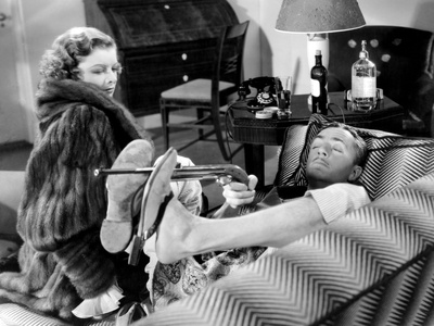 The Thin Man, Myrna Loy, William Powell, 1934 Stretched Canvas Print