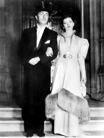 The Thin Man, William Powell, Myrna Loy, 1934 Stretched Canvas Print