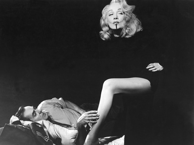 Witness For The Prosecution, Tyrone Power, Marlene Dietrich, 1957 Stretched Canvas Print