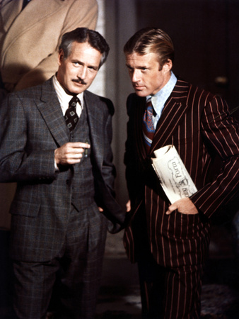 The Sting, Paul Newman, Robert Redford, 1973 Stretched Canvas Print