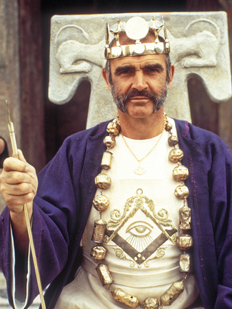 The Man Who Would Be King, Sean Connery, 1975 Stretched Canvas Print