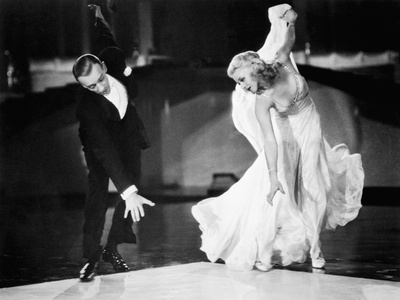 Swing Time, Fred Astaire, Ginger Rogers, 1936 Stretched Canvas Print