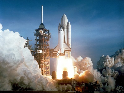 First Space Shuttle Launch on April 12, 1981 Stretched Canvas Print