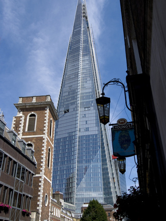 The Shard, Tallest Building in Western Europe, Designed by Renzo Piano, London, SE1, England Stretched Canvas Print