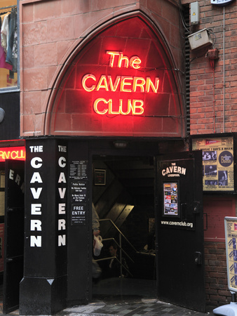 Cavern Club, Mathew Street, Liverpool, Merseyside, England, United Kingdom, Europe Stretched Canvas Print