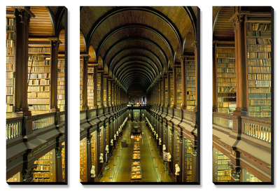 Gallery of the Old Library, Trinity College, Dublin, County Dublin, Eire (Ireland) Canvas Art Set