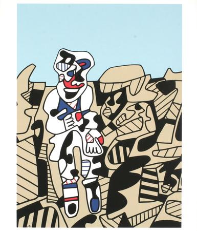 Inspection du Territoire, 1974 art brut œuvre par Jean Dubuffet