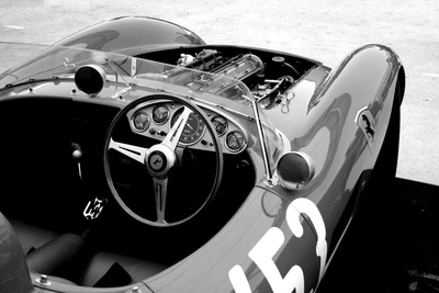 Ferrari Cockpit Stretched Canvas Print
