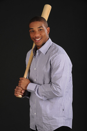 Ben Revere No. 2 - Outfielder for the Philadelphia Phillies Stretched Canvas Print