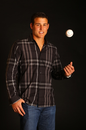 Anthony Rizzo No. 44 - First baseman for the Chicago Cubs Stretched Canvas Print