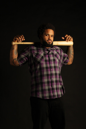 Prince Fielder No. 28 - First Baseman for the Detroit Tigers Stretched Canvas Print
