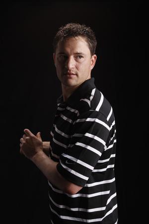 Jason Frasor - Pitcher for the Toronto Blue Jays Stretched Canvas Print