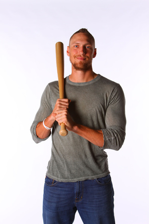 Hunter Pence No. 8  - Outfielder for the San Francisco Giants Stretched Canvas Print