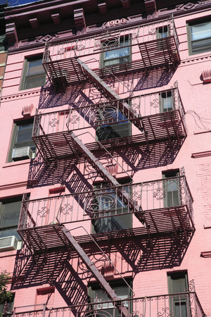 Fire Escape, Soho, Manhattan, New York City, United States of America, North America Stretched Canvas Print