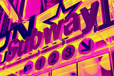 Subway Stations - Pop Art - New York City - United States Stretched Canvas Print